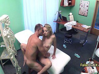 Doctor fucks horny tight pussy
