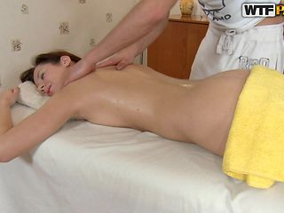 a perfect body babe massaged with oil