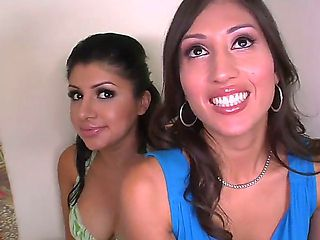 Sativa Rose shows to her young friend, Ann Marie Rios, how to seduce a handsome guy