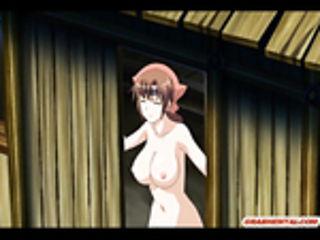 Japanese anime hard wet pussy fucked in the dark night