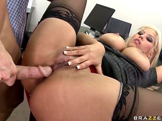 Lewd hunk Johnny Sins acquires hard screwed by hawt secretary with giant pointer sisters Brifgette B