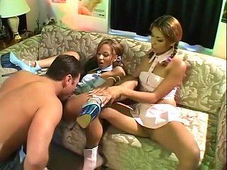 Exotic pornstars Lena Juliett and Mya Mason in crazy hairy, latina porn movie