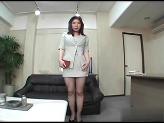Japanese office girl fish net stocking