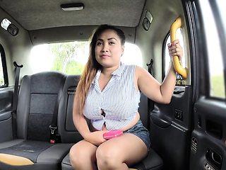 Fake taxi driver bangs fat Thai babe