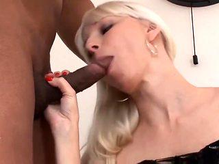 Lena Cova Tasting Black Cock!