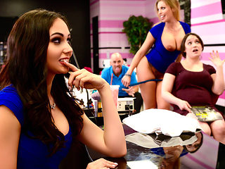 Ariana Marie & Britney Amber & Johnny Sins in Getting Their Own Facials - Brazzers
