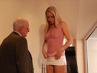 Blonde with a perfect body getting shagged by the mature office guy