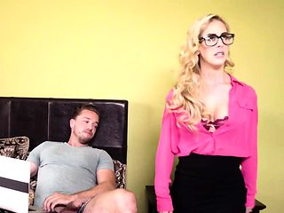 Busty milf Cherie DeVille rides schlong in bedroom