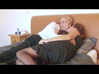 Fishnet Granny Copulates Granddad