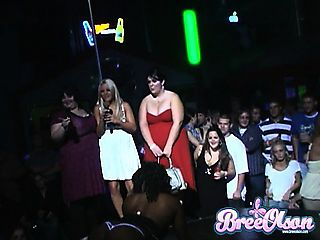 Bree has a wild birthday party with gals shaking it up on stage