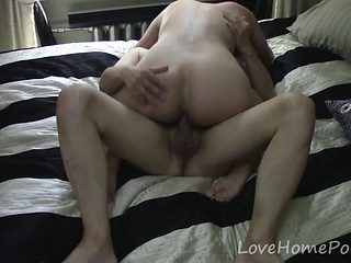 Housewife falls in love with her husband's cock