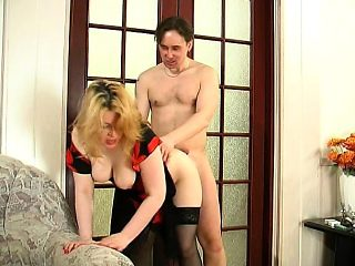 Awesome MILF Lisa is banged inside her stockings