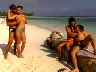 Foursome on the beach