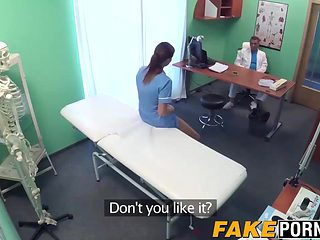 Sexy ass brunette nurse nailed hard by big dick doctor