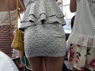 Short Skirt Asian Milfs In The Bus