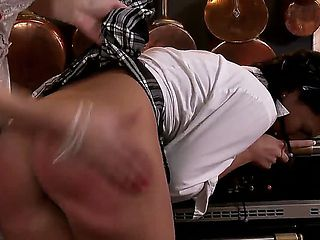 Fantastic hardcore spanking scene with Alyssia Loop and Aneta J. great lesbian action as this sex...
